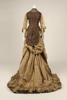 Silk and cotton dress by Jacques Doucet (French, 1853-1929), 1880.  The Metropolitan Museum of Art