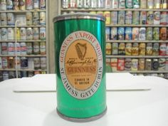 CLEAN INDOOR GUINNESS EXPORT STOUT FLAT TOP BEER CAN 11-1/2 OZ