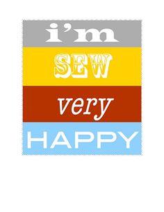 I'm SEW Very Happy.