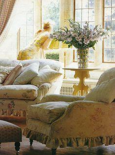 Laura Ashley & Bennison fabrics  (creams and yellows)