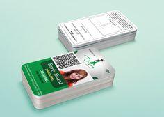 Diseño e impresión Digital en credencial de PVC. Cliente: Uniformes Duboa.