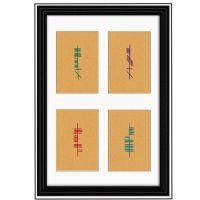 Ogham Inspired Book of Kells Framed Print- (Matthew, Mark, Luke, John) by OghamArt.com $65.00