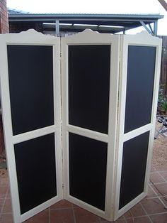 ~subarashiiblog~: daftly diy: chalkboard dressing screen