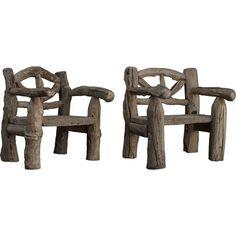 wooden outdoor armchairs circa