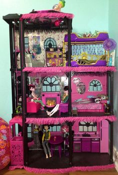 turn barbie house into monster high - Google Search