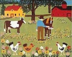 Maud Lewis available artwork, past sales and appraisal information at Mayberry Fine Art in Toronto and Winnipeg. Canadian Painters, Canadian Artists, Maudie Lewis, Easy Paintings, House Paintings, Naive Art, Outsider Art, Watercolor Art, Folk Art