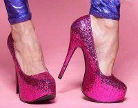 , crystal high heels