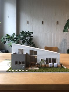 Concept Models Architecture, Architecture Model Making, Architecture Design, Minimalist House Design, Small House Design, House Template, Mediterranean Style Homes, Box Houses, Sims House