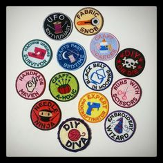 Sewing pride patches made by an acquaintance #sewing #crafts #handmade #quilting #fabric #vintage #DIY #craft #knitting