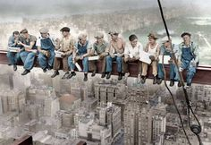Puzzle de obreros almuerzo- Empire state-New york-usa ( Ref:  0000016009 )
