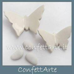 Farfalle in ceramica avorio