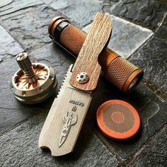 D Rocket Design Higonokami or Friction Folding Knife by Darriel Caston