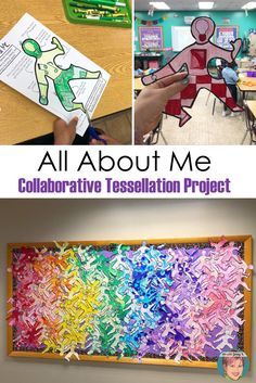 This activity can be done in so many fun ways - like this monochromatic way! Teachers love how easy this project is and students love how creative it can be! Collaborative Art Projects For Kids, Group Art Projects, Fun Team Building Activities, Art Therapy Activities, Indoor Activities, School Murals, Art School, Middle School Art Projects, High School