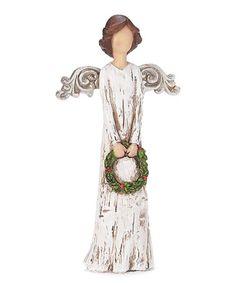 Look at this #zulilyfind! Angel Wreath Figurine #zulilyfinds