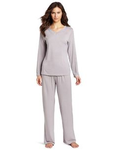 Casual Moments Women's Pajama V-Neck Set « Clothing Impulse