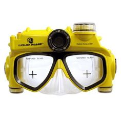 """Liquid Image 304 XSC Explorer Series 8.0 MP Underwater Video Camera - Yellow by Liquid Image. $73.99. The XSC Explorer Series 8.0MP Underwater Video Camera  has a built in Camera embedded into a Snorkeling Mask that makes underwater photography """"Hands Free"""" for safer swimming and snorkeling. Photograph or video friends, family or fish. Connect camera to your computer with the USB cable provided. Download the images and video to your computer to email or print 8.0MP images.  ..."""