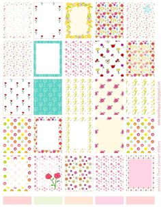 Free printable floral planner stickers - ausdruckbare Sticker - freebie   MeinLilaPark – DIY printables and downloads