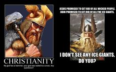 This is why I prefer Norse Mythology! Norse Religion, Anti Religion, Viking Culture, Celtic Culture, Norse Pagan, Norse Mythology, Viking Symbols And Meanings, Viking Berserker, Viking Quotes
