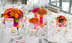 All glass covered with large color ribbon: Centerpieces