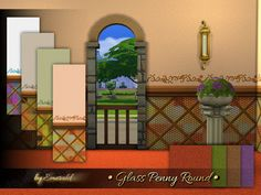 Sims 4 CC's - The Best: Glass Penny Round by Emerald