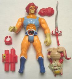 CLASSIC TOY : Lion-O Snarf Thundercats by LJN - Telepictures 1985 Condition : Complete 5 Pieces Parts (Includes two figurines). Arm mechanism and Lion-O eyes stil. Snarf Thundercats, Thundercats Toys, Thundercats Action Figures, Classic Toys, The Ordinary, Vintage Toys, Lion, Statues, Nostalgia