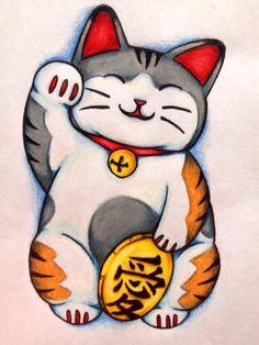 Maneki Neko Art | Displaying (19) Gallery Images For Gold Maneki Neko Tattoo...
