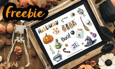 Freebie – Halloween sheet zum selber ausdrucken Halloween Boo, Printables, Decor, Loyalty, Decoration, Print Templates, Decorating, Deco, Embellishments