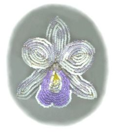 Beaded Orchid- Free Pattern. How pretty