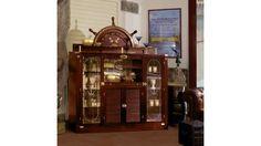 Wet bar, classic mahogany finishing. by #Caroti  #VecchiaMarina #HandMade