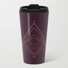 Talk about steely good looks. In addition to a 360-degree wraparound design, our metal travel mugs are crafted with lightweight stainless steel - so they're pretty much indestructible. Digital, Christmas, Christmas tree, geometrical, copper, plum, xmas, triangles, winter, geometry, minimal, minimalist, society6, purple, gold, home decor, interior design, holidays, Christmas gift, blanket, tapestries, Christmas print, travel mug