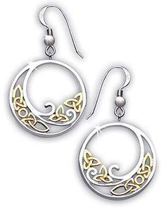 """Two Tone """"Celtic Wave"""" Earrings"""