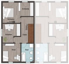 Ber ideen zu doppelhaus bauen auf pinterest for Doppelhaus grundriss modern
