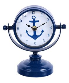 Look what I found on #zulily! Anchor Table Clock #zulilyfinds