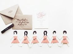 Make something unique for asking your girlfriend to be your bridesmaid by weddinginstyle