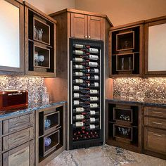 Buy the Wine Enthusiast VinoView Wine Cellar at Wine Enthusiast – we are your ultimate destination for wine storage, wine accessories, gifts and more! Shelving Design, Shelf Design, Wine Dispenser, Exterior Doors With Glass, Home Wine Cellars, Wine Cellar Design, Wine Fridge, Italian Wine, Wine Storage