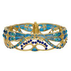 Parisian Art Nouveau dragonfly bracelet based on designs from the Metropolitan Museum's collection.