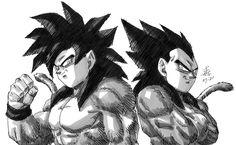 Goku And Vegeta, Dbz, Patrik Star, Kid Buu, Comic Book Collection, Dragon Ball Gt, Anime Art, Sketches, Fan Art