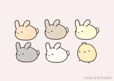 Bunnies are nice. >u< I dunno, sometimes I'm drawn... - chibird