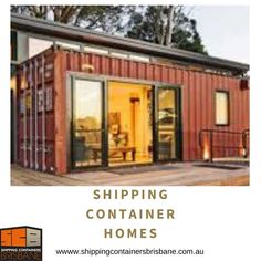 Shipping Container Homes Brisbane, QLD – Hire & Sales Container Homes For Sale, Containers For Sale, Container House Design, Shipping Container Homes Australia, Shipping Container Home Designs, Shipping Containers, Brisbane, Huge Design, Beach Accommodation