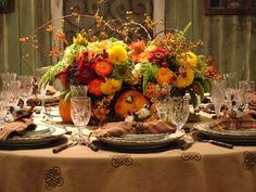 Beautiful Thanksgiving setting!