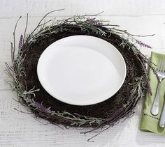 Lavender Charger -- twine lavender around chargers for insti-awesome