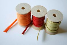 Small Wooden Spools - set of 12 - Natural Wood Thread Spools. $3.50, via Etsy.