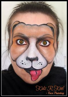 Dog Face created by Ann Lyon from Kidz R Cool face painting