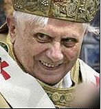 Scary Pictures of the Pope. Will this guy be declared a saint? Shudder.