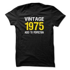 Black Vintage 1975 Aged To Perfection Birth Years Shirts. The 1975 Band Clothing The 1975 Clothes 1975 Clothes. #birthday #1975. http://tshirts.salalo.com/2016/03/black-vintage-1975-aged-to-perfection-birth-years-shirt.html
