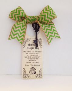Santa's Magic Key by letspartynola on Etsy, $8.00