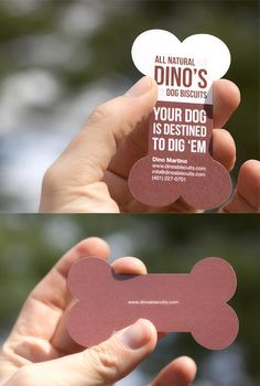 Dino's All Natural Dog Biscuits Business Card