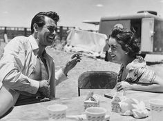 Rock Hudson and Liz Taylor - Behind The Scenes - Giant