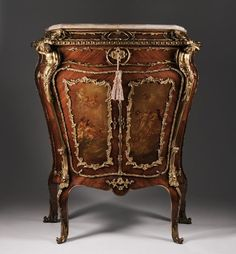 19th C. Louis XV Kingwood Side Cabinet Fitted With Bronze Mounts from Pia's Antique Gallery Exclusively on Ruby Lane