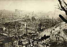 Total devastation in Tokyo after Great Kanto earthquake, 1923